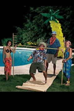 Limbo pole for luau party activities
