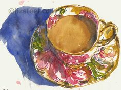 More about sketching with coloured ink : Liz Steel