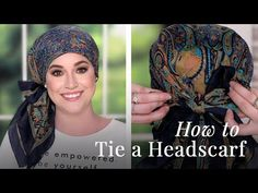 We'll show you three of the easiest ways to tie a square headscarf. Products used Meridian Beanie - . African Head Scarf, African Head Wraps, African Hair, Losing Hair Women, Forehead Headband, Scarves For Cancer Patients, Hair Wrap Scarf, Head Scarf Tying, Head Scarf Styles