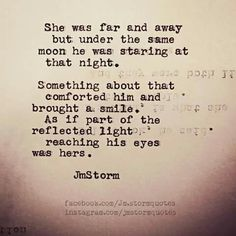 We are always under the same moon...