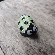 Hand Painted Rock painted as a Ladybug and by NatureSpeaks2you