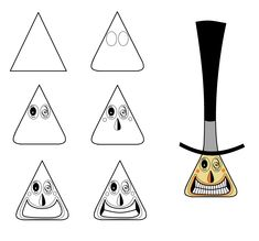Step-by-step to draw the Mayor from Nightmare Before Christmas Nightmare Before Christmas Characters, Nightmare Before Christmas Decorations, Nightmare Before Christmas Halloween, Christmas Doodles, Christmas Coloring Pages, Christmas Art, Christmas History, Halloween Doodle, Halloween Drawings