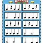 New FREEBIE on TPT - Back to School Rhythm Game. First person to clap all of their rhythms correctly and reach the school wins! This would be a great activity for those first lessons of the year. Elementary Choir, Elementary Music Lessons, Music Education Games, Music Games, Preschool Music Activities, Piano Lessons For Kids, Music Lesson Plans, Music Worksheets, Reading Music