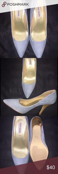 Steve Madden Shoes never worn❤️❤️❤️ Turquoise Suede - Never Worn Steve Madden Shoes Heels