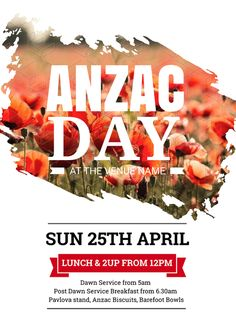 Create an event flyer or poster for Anzac Day or Australia Day without the need for a graphic designer. Check out the huge range of professionally pre-designed posters, flyers and social media graphics that you can update yourself, in minutes. Anzac Biscuits, Anzac Day, Australia Day, Cultural Events, Social Media Graphics, Diy Design, Poppies, Event Posters, Graphic Design