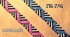Como hacer una pulsera de hilo ZIGZAG 2➢ MACRAME