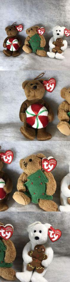 Lot 7 JINGLE TY Beanie BABIES MINT RETIRED Yule Twinkling Bear Yummy Flaky GOODY
