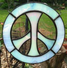 Peace Sign Stained Glass Sun Catcher by KippaxDecorativeArt