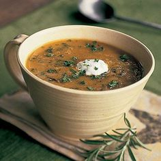Healthy Split Pea Soup with Rosemary | Cookinglight.com