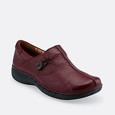 b06816ac5d0 Un.Loop in Burgundy Leather - Womens Shoes from Clarks Loafers Outfit
