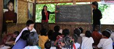 My daughter Margaret and Son-in-Law Lwin Oo teaching in Myanmar