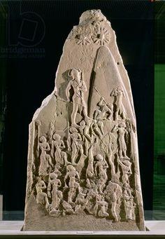 Victory stele of Naram-Sin, King of Akkad, over the mountain-dwelling Lullubi, Akkadian Period, c.2230 BC (pink sandstone)