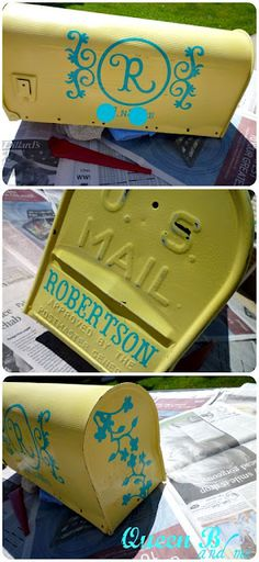 mailbox makeover -  gift for my mom at the cabin
