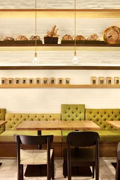 banquette seating  | GAGA deli + eatery in shenzhen  {by coordination asia}   #restaurantdesign