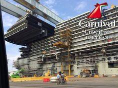 Carnival Vista construction photos #cruise