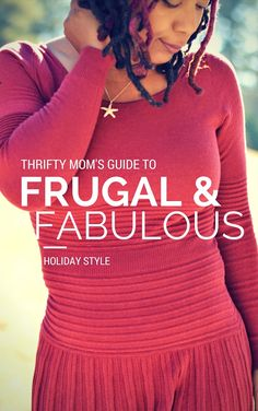 frugal and fabulous holiday style with marsala red dress #spon