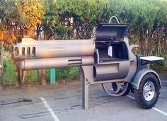 "This grill is shaped just like a Smith & Wesson Magnum 500 revolver but ""slightly"" bigger. This smokin' gun BBQ grill was designed and constructed by five super talented welding students from Sandpoint High School in Idaho for a local firearms dealer. The class often does projects like this for local vendors in exchange for materials. Now that is ingenuity"