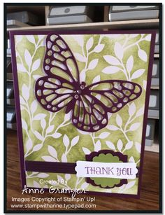 Butterfly Basics- Irresistibly Your Thank you Card