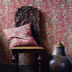 A highly decorative and detailed design: Indian, from the Morris V Wallpapers Collection at British Wallpapers: http://www.britishwallpapers.co.uk/morris-v-wallpapers/