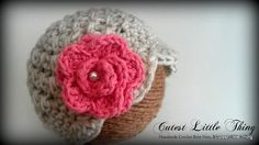 Baby Girl Hat Crochet Baby Girl Hat Oatmeal by CutestlittleThing, $21.99