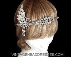 Great Gatsby Headband  Vintage 1920's Art by VintageHeaddresses, £220.00