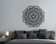 Mandala etiquetas dormitorio Yoga pared calcomanía por HomyVinyl