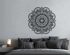 Mandala Wall Decal Mandala Decal Yoga Studio Decor by PonyDecal