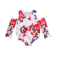 >> Click to Buy << Cute Newborn Kids Baby Girls Off Shoulder Flower Romper Jumpsuit Sunsuit One-Pieces Outfits Clothes #Affiliate