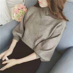 Buy QZ Lady Mutton Sleeve Mock-Turtleneck Sweater at YesStyle.com! Quality products at remarkable prices. FREE WORLDWIDE SHIPPING on orders over US$35.