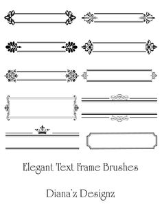 Elegant Text Frame Brushes