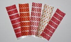 Red & Orange Print Theme Washi Tape Stickers For Erin Condren Life Planner ECLP Accessories via Etsy $5.