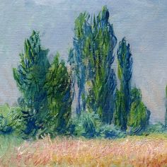 The Wheat Field (detail) ~ Claude Monet