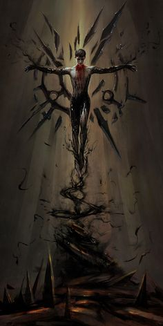 Excellent art for the Outsider from Dishonored Dark Fantasy Art, Fantasy Artwork, Dark Art, Fantasy Character Design, Character Art, Arte Obscura, Horror Art, Fantasy Creatures, Fantasy Characters