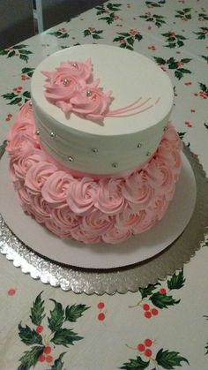 Image result for decoracion de tortas de 15 años con crema