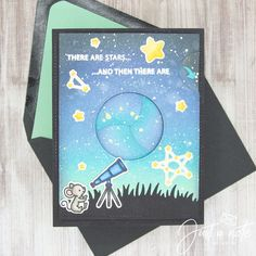 This project uses the Super Star set and Magic Iris Die & Add-On Die from Lawn Fawn. Follow me on Instagram @justanotebyjustin for more details on this project and more inspiration!