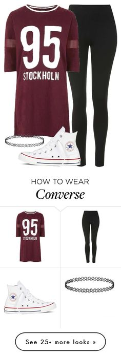 """""""jade insp"""" by littlemixmakeup on Polyvore featuring Topshop and Converse"""