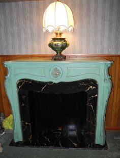 Antique Carved Fireplace Mantel