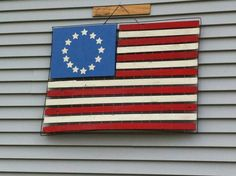 The flag my son made for the front of my house.