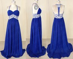 2014 Royal Blue Prom Dress, Cheap Long/Floor length Open Back Prom Dresses, Beaded Prom Dress with Spaghetti Straps,Dark Blue Beading Prom Dress Evening,beaded prom dresses,evening dresses , Junior Prom Dresses,Sexy Cocktail Dresses,Party Dresses, Celebrity Dresses cute,Sweet 16 Dresses 2015