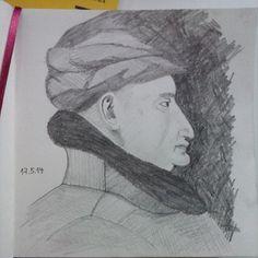#drawing #sketchbook #pencil #profile #sideface #LudwigIIvonAnjou