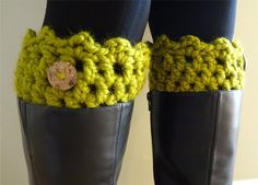"""Free pattern for """"Friendship Boot Cuffs"""" by Fiber Flux!"""