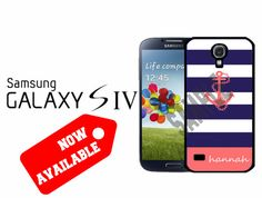 Samsung Galaxy S4 Case  Navy Nautical Stripes by CrazianDesigns, $15.99