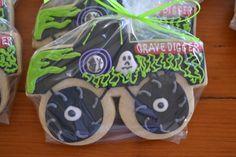 jackandy cookies: Monster Truck Cookie Favor...Grave Digger