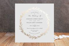 Winter's Garden Foil-Pressed Wedding Invitations by Oma N. Ramkhelawan at minted.com