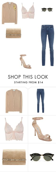 """""""Untitled #2613"""" by anamaria-zgimbau ❤ liked on Polyvore featuring Prada, Calvin Klein Jeans, Boohoo, Manolo Blahnik, Jimmy Choo and Ray-Ban"""