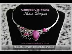 One of a kind elegant jewelry - Gabriela Casineanu Design  What's available in my Etsy store as of August 24, 2013. :-) http://thoughtsdesigner.etsy.com