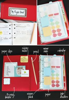 Make a Personal Planner Notebook