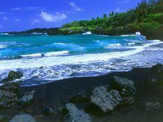Black Sand Beach - Hana, Maui
