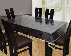 Table Cover Designer Vinyl Tablewares  *Material* Vinyl   *Capacity* 6 Seater   *Size* (L x W) - 60 in x 90 in   *Description* It Has 1 Piece Of Tableware  *Sizes Available* Free Size *   Catalog Rating: ★4.1 (128)  Catalog Name: Classy Vinyl Transparent Table Covers Vol 1 CatalogID_36020 C129-SC1637 Code: 013-339255-