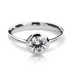 snowwhite engagement ring with a round brilliant diamond (fashion design: Danfil Diamonds) Brilliant Diamond, Her Smile, Engagement Rings, Fashion Design, Jewelry, Diamond, Enagement Rings, Wedding Rings, Jewlery